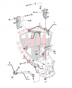 Схема передней подвески LEXUS LS460/460L (2006 - )